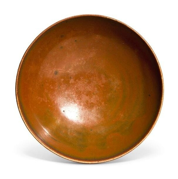 A 'Yaozhou' persimmon-glazed bowl, Song dynasty (960-1279)