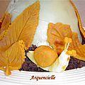gâteau champignon automne détail