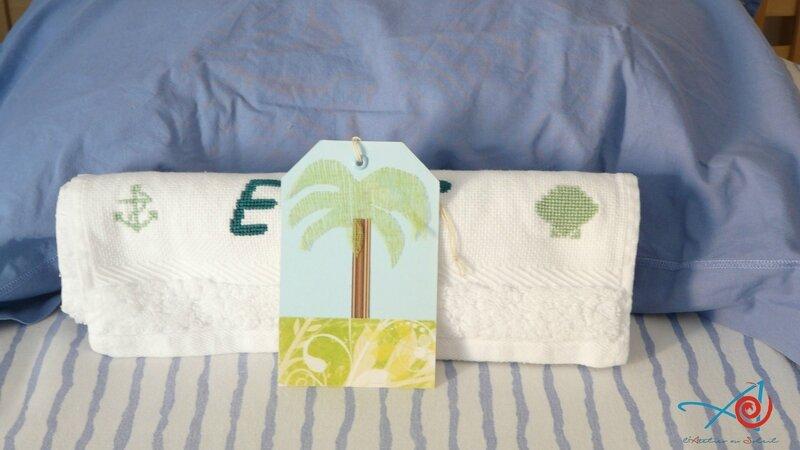 Etiquette palmier et serviette (Copier)