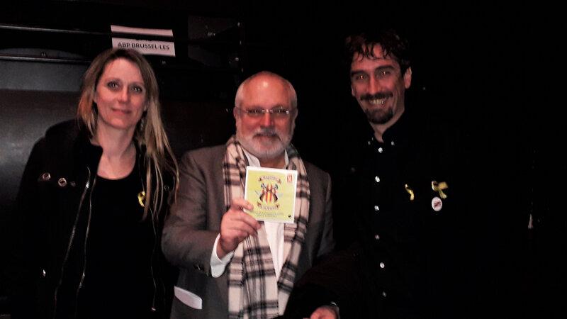 Berenguera Sunyer (psychologue, membre Angelets), Lluis Puis (ministre catalan de la culture en exil), Ramon Faura (président Angelets de la Terra)
