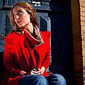 Veste rouge coton & jersey