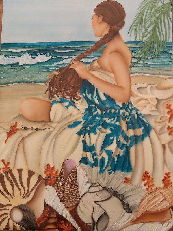 tahitienne et coquillage 002