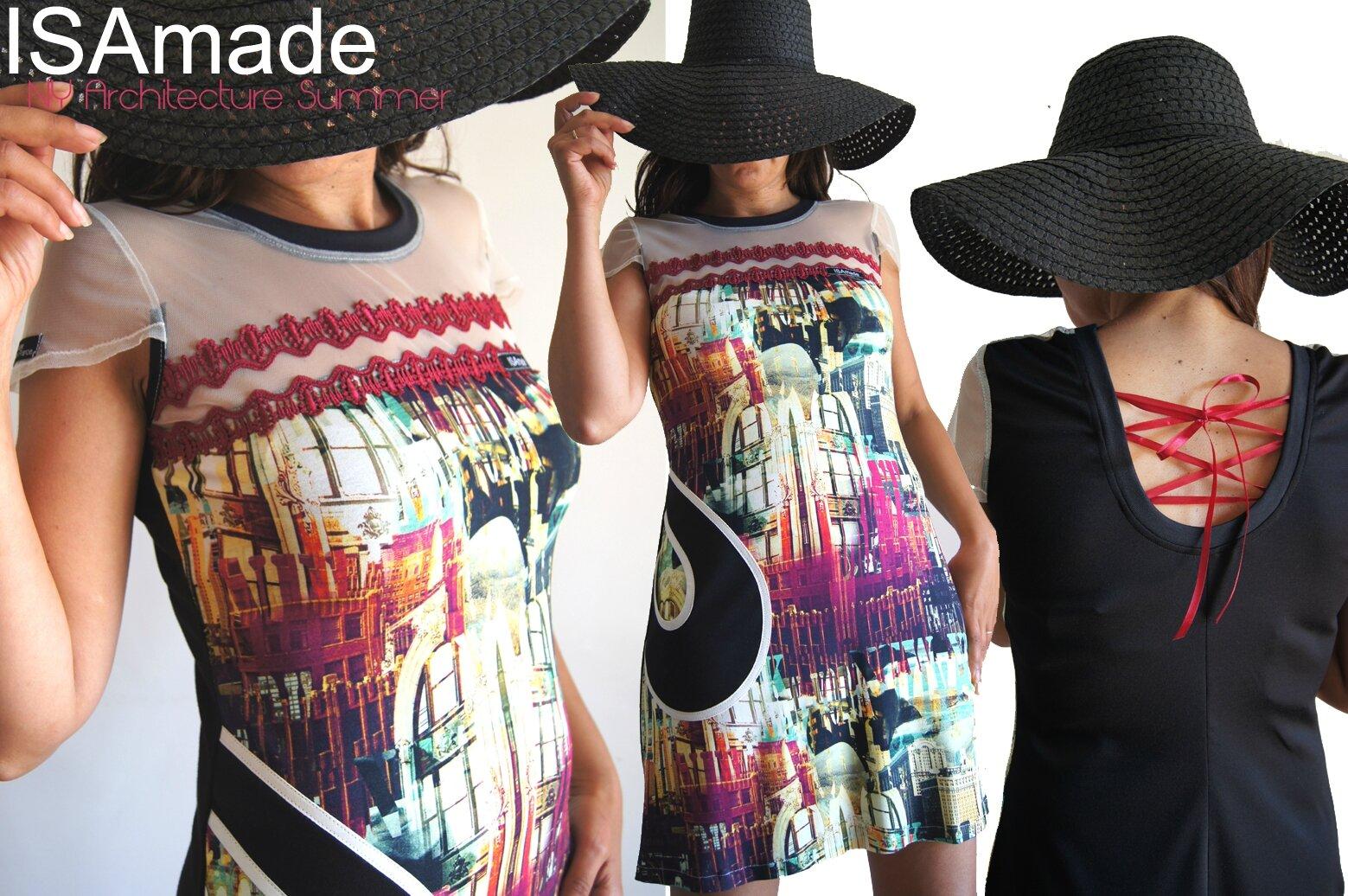 Une robe Jersey Femme à l'imprimé Coloré Impression Art architecture New York
