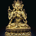 A rare gilt-bronze figure of a bodhisattva, ming dynasty, 15th century, probably zhengtong period (1436-1449)