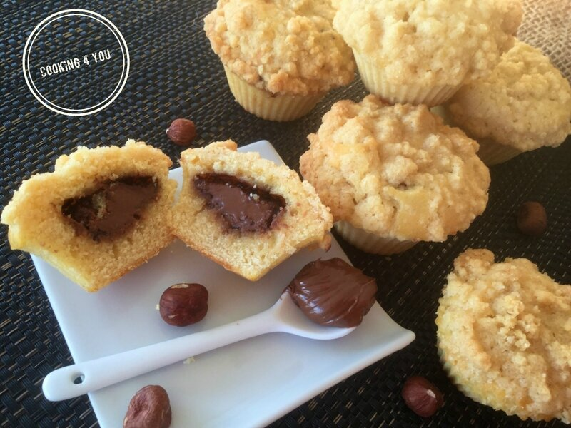 crumble sur muffins Nutella 016