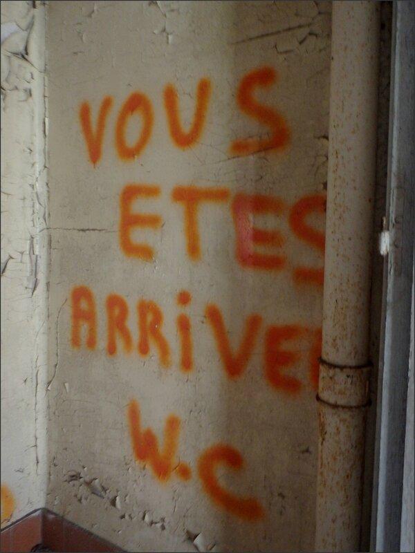 Paris sana Dreux 110316 80 graff vous etes arrive WC