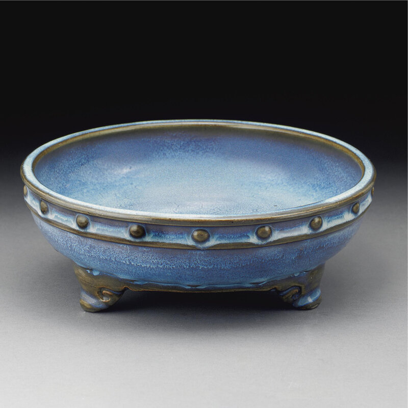A Fine 'jun' sky-blue narcissus bowl, Early Ming dynasty