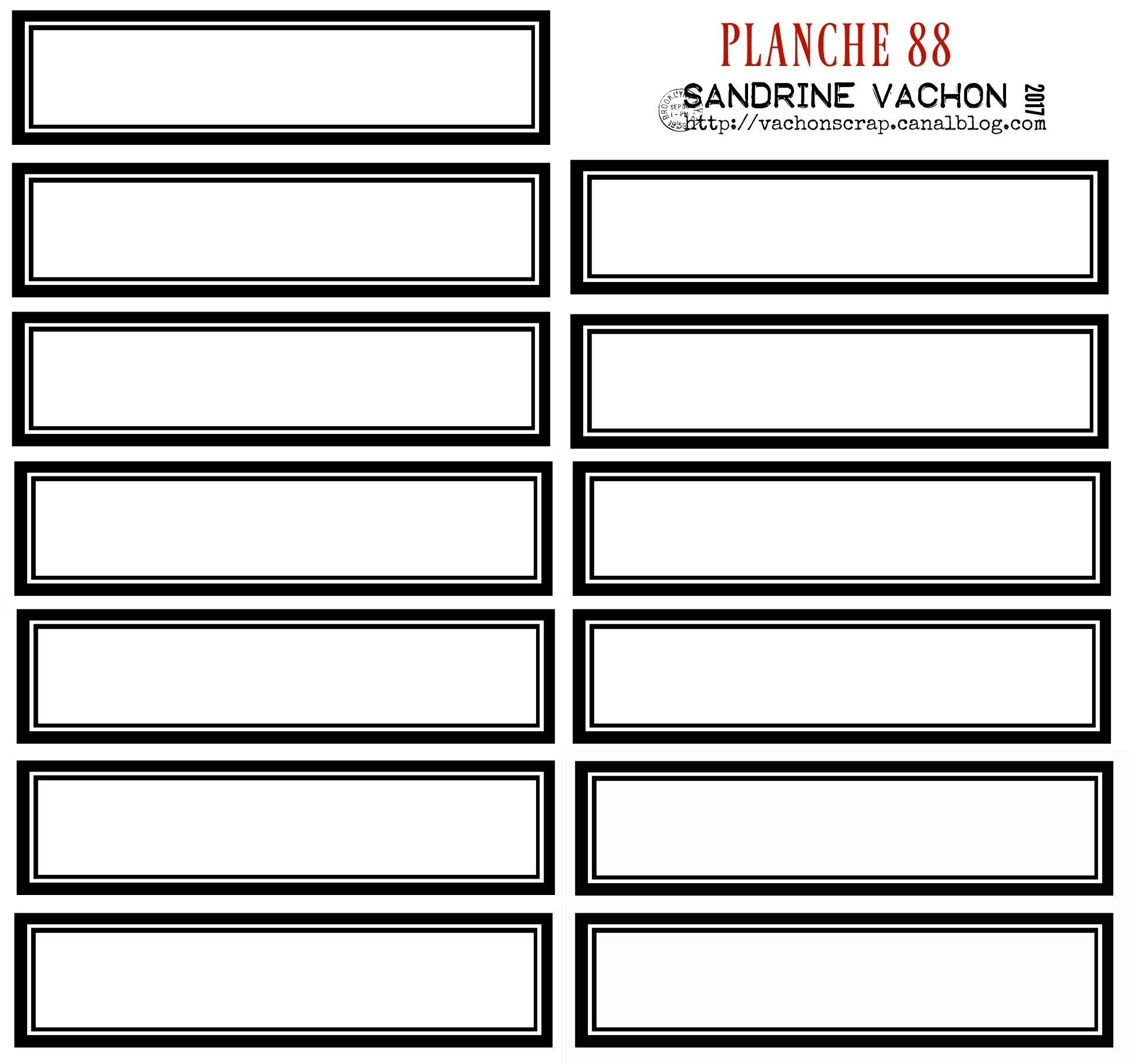 PLANCHE 88 NOIR