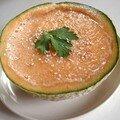 Soupe crue au melon