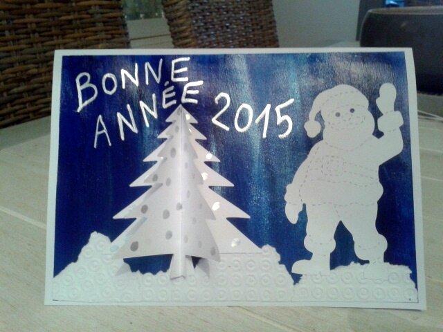 152_Noël et Nouvel an_ Carte Blanc Bleu Argent (35)