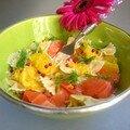 Salade de pâtes au saumon et à l'orange