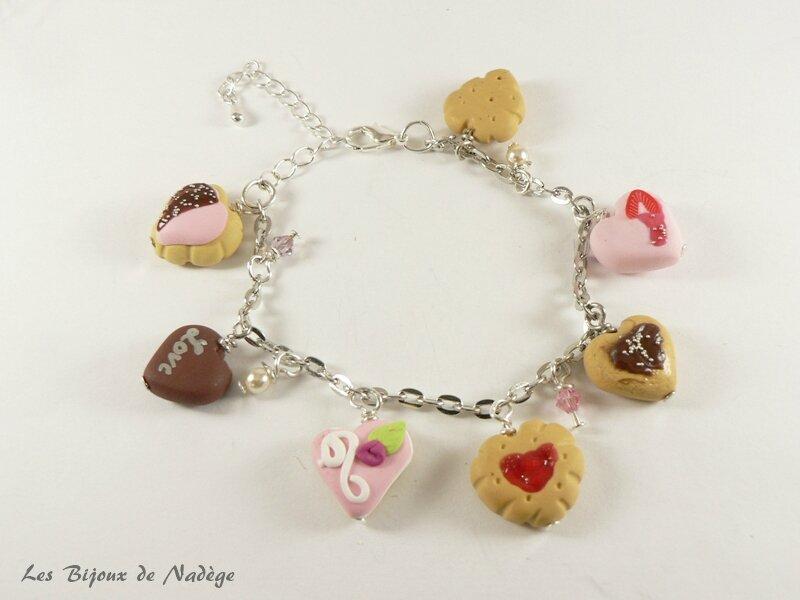 bracelet mariage gourmandise coeur