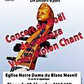 Concert de noel recital la viole de gambe un monde a part, aujourd'hui a 18h a l'eglise nd du blanc-mesnil