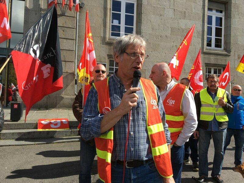 Fête Internationale du Travail Avranches 1er mai 2016 Bernard Daragon CGT