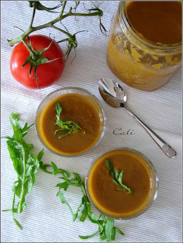 Velouté de Tomates et Roquette 001