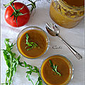 Velouté froid de tomates & roquette