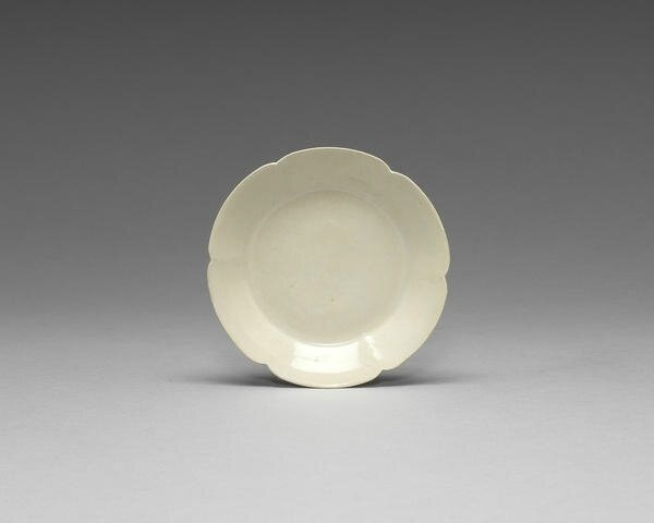A small Dingyao foliate dish, Northern Song Dynasty