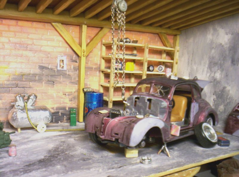 garage restauration voiture ancienne le monde merveilleux de la miniature. Black Bedroom Furniture Sets. Home Design Ideas
