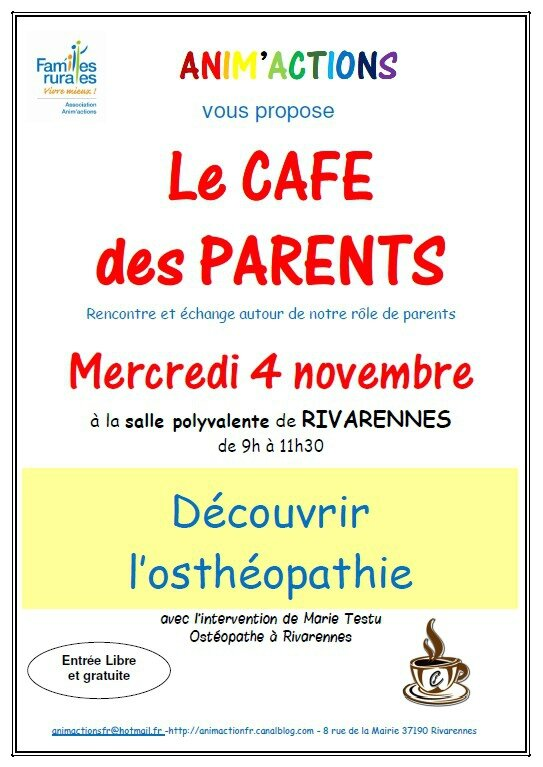 Café des parents ostéopathie
