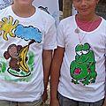 Atelier décor tee-shirts Mérindol Rencontres Eco-citoyennes 2010 - Ecologie enfants