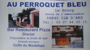 Au Perroquet Bleu Carte de visite J&W