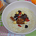 Porridge au son d'avoine