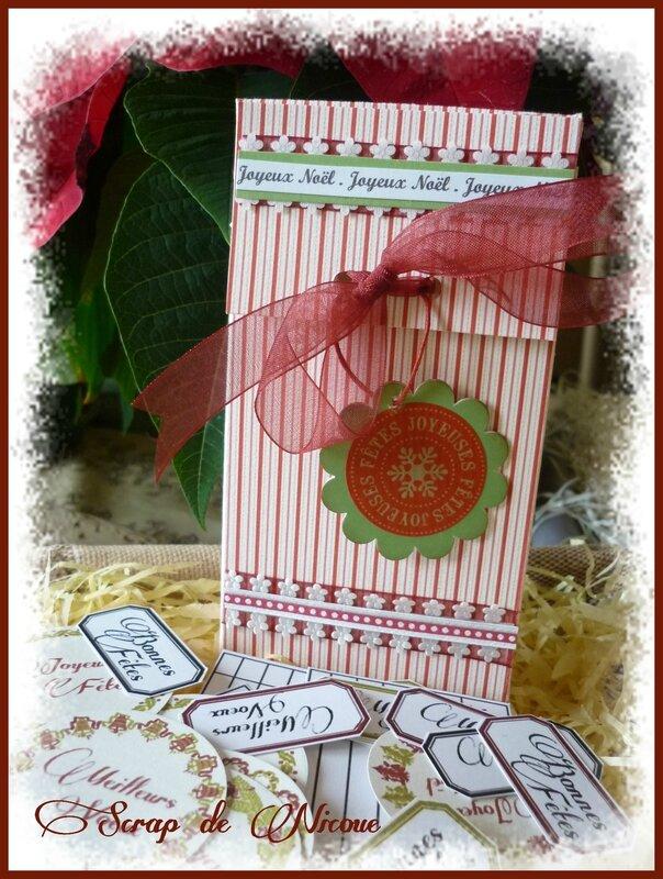 Une boite à étiquettes pour Noël