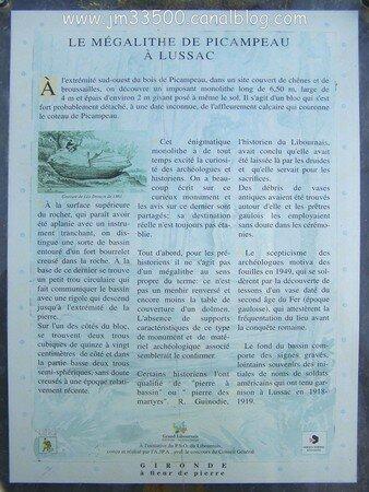 InFo sur la PieRRe à BaSSin de LuSSaC-de-LiBoUrNe