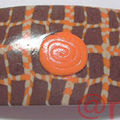 Barrette FIMO rectangles orange chocolat (N)