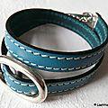 Bracelet double tour Grain de Café (turquoise)