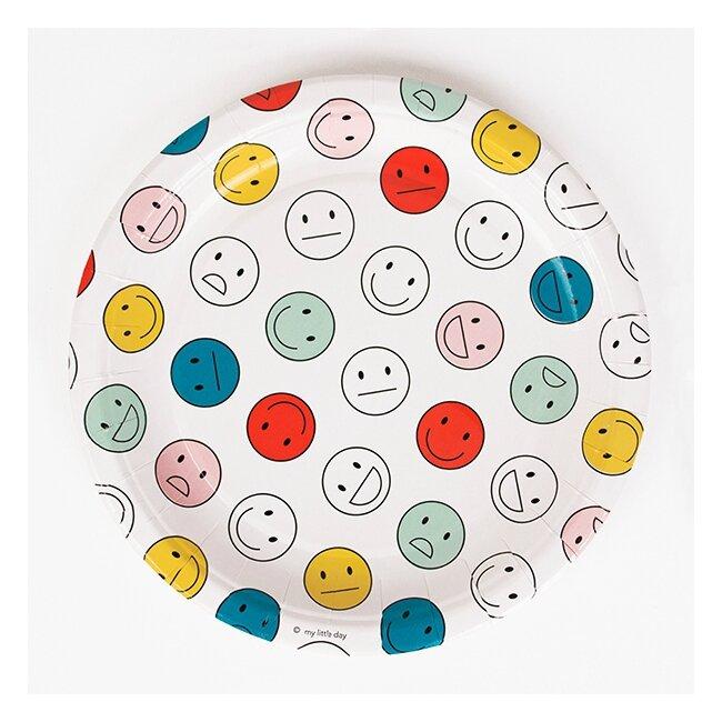 vaisselle-jetable-assiette-happy-faces