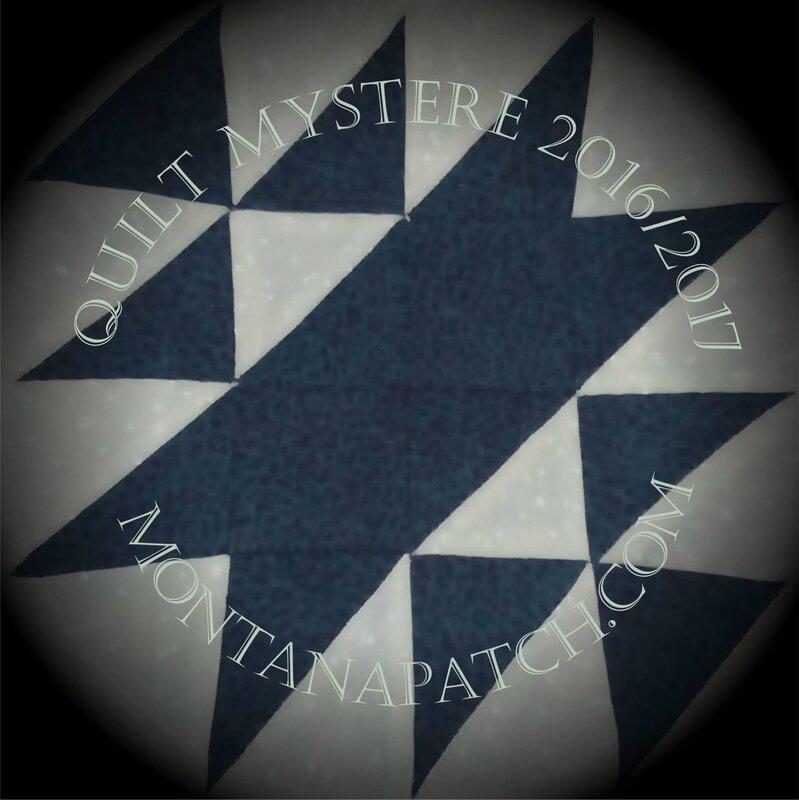 Quilt Mystère oct 2016 montanapatch