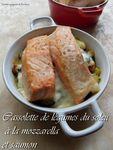 cassolette de légumes du soleil à la mozarella et saumon