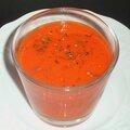 Gaspacho de poivron rouge