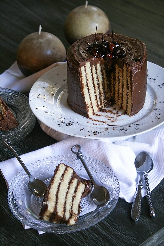 Roulé vertical - Striped cake - Minouchka 10-2