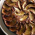 Gâteau aux pommes et au cacao
