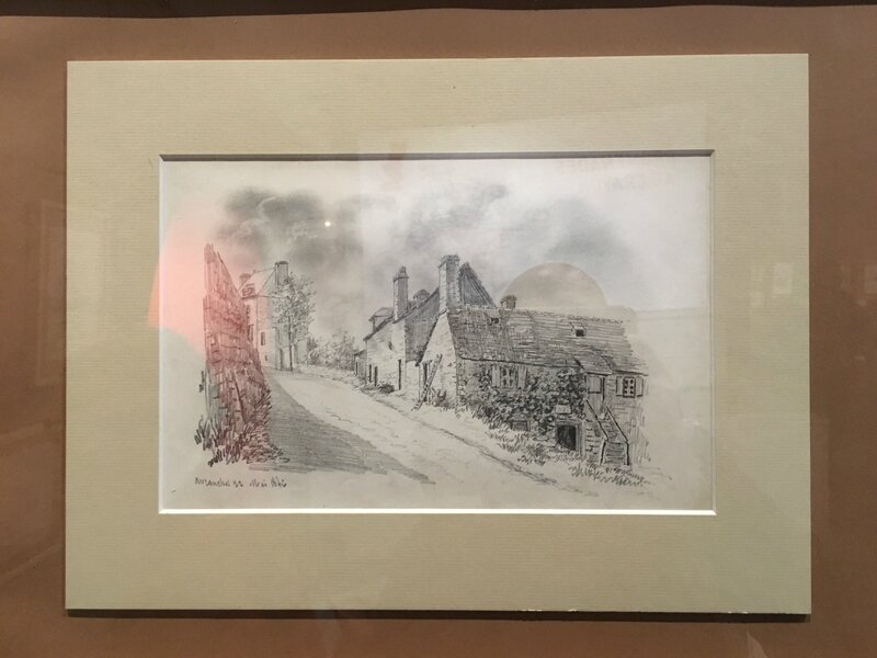 exposition Joseph Le Dieu dessin Scriptorial Avranches 2016 rue de Geole