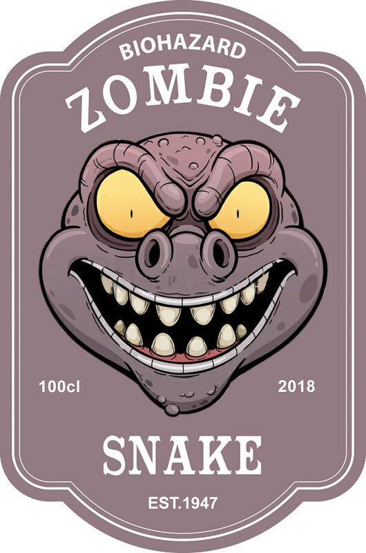 label zombie snake virus