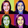 Portrait pop'art quatro, nuanciers ABCD