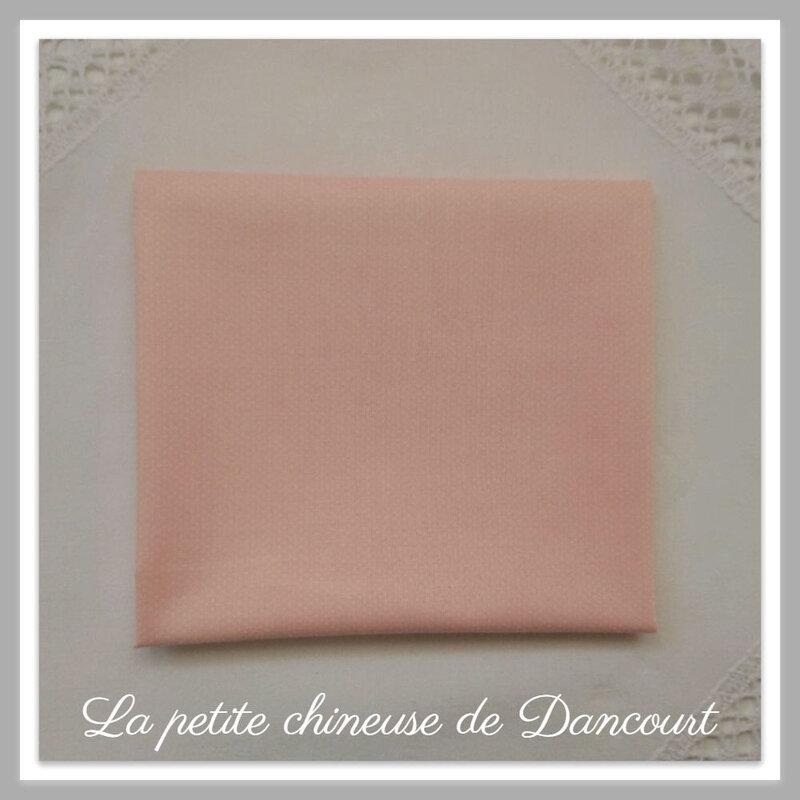 Coupon de tissus Lecien mini dots rose la petite chineuse de dancourt