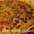 Quiche à la mexicaine
