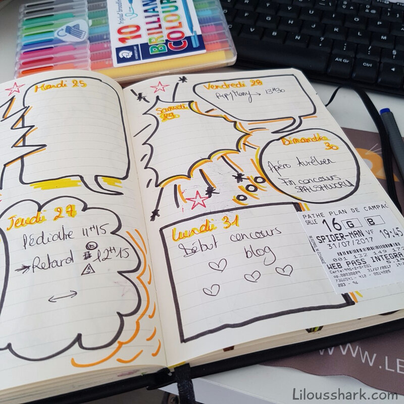 bullet journal planning hebdomadaire weekly bujo