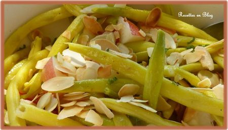 salade de haricots beurre amandes nectarines3