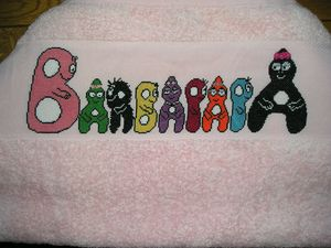 Serviette Barbapapa 1
