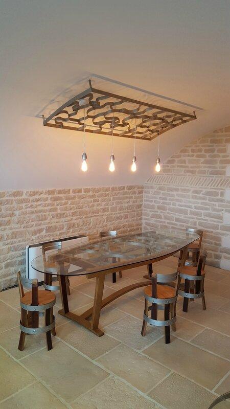 winebar, meuble design, agencement, pièce unique, cave à vins, meuble tonneau, meuble barrique bordeaux, table de dégustation, designer maker, bordeaux furniture, meuble à bordeaux, agencement cave à