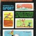 1970 : Tintin sportif, où l'on reconnaît la patte de Bob.