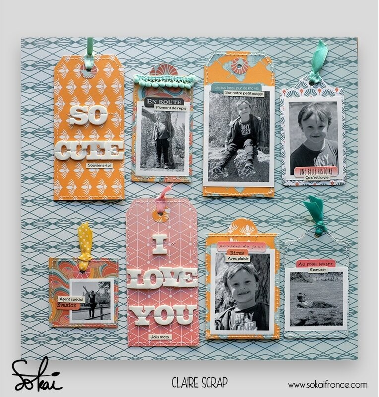 mini tag Maé - collection So'leil levant- tag recto - claire scrapathome - sokai