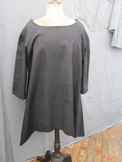 Tunique EDMEE en lin noir (4)