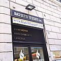 Les magasins de tissus à rome...