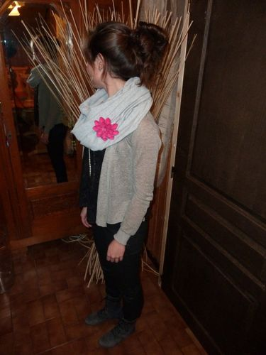 Cowl en jersey de coton
